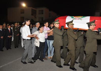 Presidente Humala asistió a homenaje póstumo de capitán del Ejército caído en el VRAE