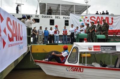Presidente Ollanta Humala lanzó el programa SAMU FLUVIAL