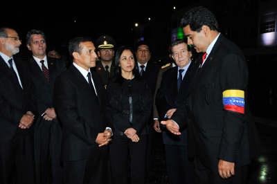 Nadine Heredia: el pueblo de Venezuela acompaña a su presidente, dolido, pero con mucha esperanza en que su ejemplo continúe