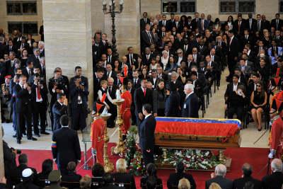 Presidente Humala y mandatarios asistieron a ceremonia de homenaje en honor a Hugo Chávez