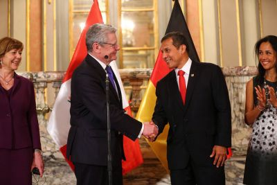 Peruvian president meets with German counterpart at Government Palace