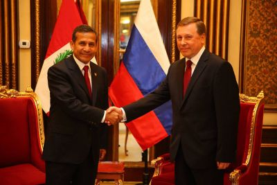 President Humala receives credentials of new ambassadors