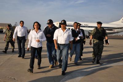 Presidente Ollanta Humala llega Ica